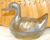 Pewter with Gold Metal Inlay Duck Jewelry/Trinket Box