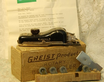 Antique Greist Rotary Button Holer