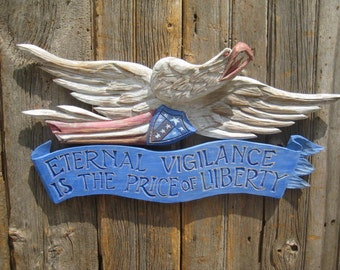 Bellamy Eagle with Patriotic Plaque