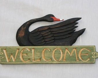 Black Swan Welcome Sign**