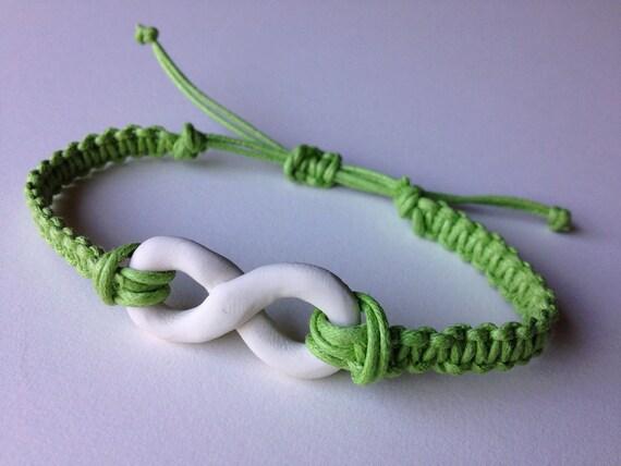 Love is Forever Adjustable Serene Green Infinity Charm Bracelet