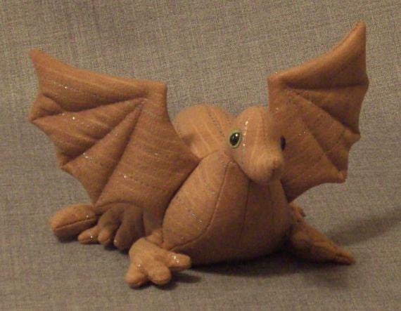 Dragon Hatchling Tan Pinstripe Beanbag