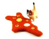 Orange Amoeba Wool Catnip Cat Toy