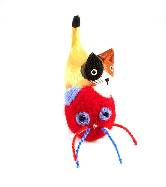 Patriotic Wool Catnip Cat Toy