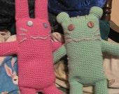 TIGER & BUNNY / Tiger-chan and Bunny-chan Amigurumi Crochet PATTERN