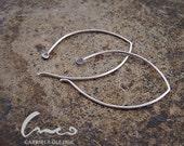 Hammered, sterling silver Earrings. simple  modern  minimal  earrings