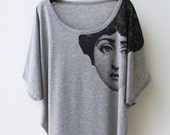 SALE - Fornasetti Tank Top Oversize Shirt Batwing in GREY