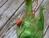 Vintage Hand Blown Wine Decanter With Ice Chamber