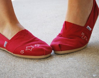 Custom shoes, Custom TOMS, personalized shoes, embroidered shoes, TOMS