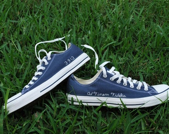 Custom Converse, Gift for her, Unique Gift, Boyfriend Gift, Custom Wedding shoes, personalized wedding shoes, embroidered shoes, Converse