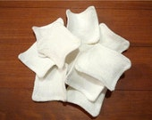 20 bamboo face pads / scrubbies for face scrub, face wash and make up remove, reusable and washable.