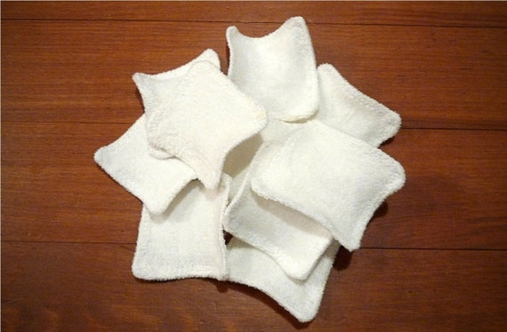 12 bamboo reusable washable face pads / scrubbies for face scrub, face wash / make up removers