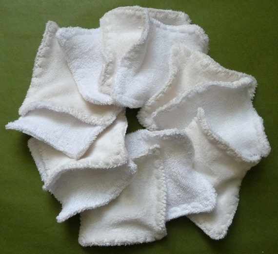 12 bamboo velour reusable make up removers / face pads