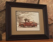 Christmas Truck Framed Photo, Free Shipping, Christmas Decor, Chrismas Photo,  Christmas Ornament,