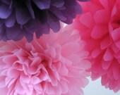 Tissue Paper Pom Poms - Set of 3 - Any Colour