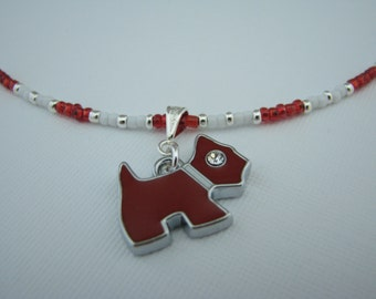 Scottie Dog Necklace - Beaded Necklace - Dog Necklace - Store Closing