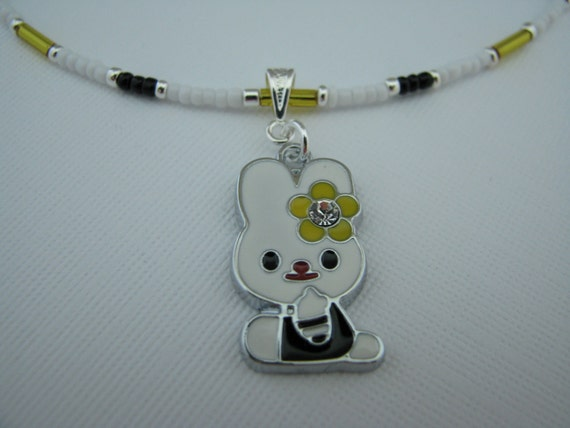 Bunny Necklace - Children Jewelry - Rabbit Necklace - Store Closing