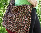 Crochet Bag with corduroy