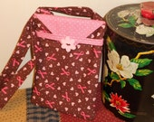 Mini Bag, Case, Purse, Bag.. Perfect for carrying your Cell Phone, iPod and more.Brown and Pink Polka Dot