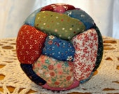 Crazy Quilt Ball Ornaments or Bowl Filler - Country