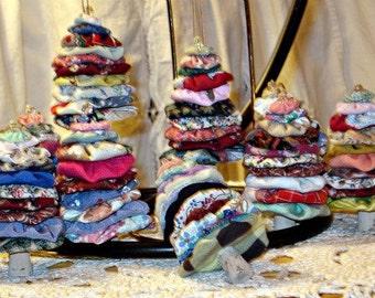 Fabric YoYo Christmas Tree