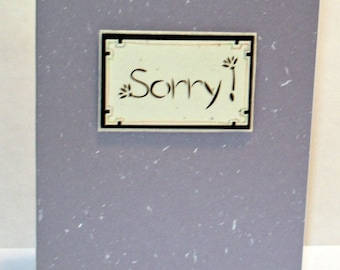 Handmade Greeting Card - Sorry