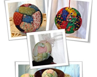 Crazy Quilt Ball and Egg Ornament or Bowl Filler - The Pattern Packet PDF