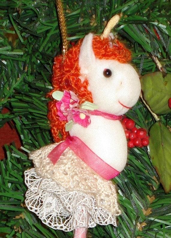 Unicorn Stick Ornament
