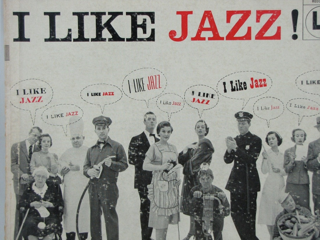 I LIKE JAZZ Vintage Record Album Cover Wall Decor