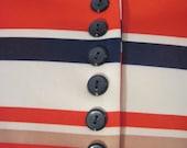 1960's Patriotic Striped Shift