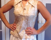 On Hold For Bren Vintage 1970s Abstract Print Sleeveless Top