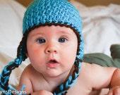 Earflap Hat with Tassels