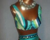 VINTAGE  Blue PUCCI Cotton Bikini