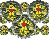SALE 1C048 I Love My Soldier Army Camouflage 1 Inch Circle Bottle Cap Images