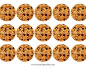 SALE 1C102 Chocolate Chip Cookies 1 Inch Circle Bottle Cap Images