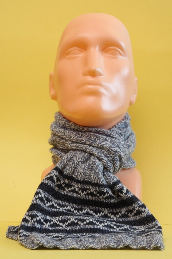 Handknitted scarf for men Warm, Soft perfect for cold weather
