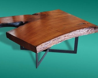 Live Edge Coffee Table Reclaimed Teakwood Solid Slab Extremely Rare