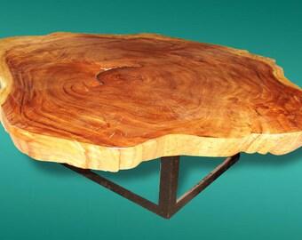 Live Edge Coffee Table Reclaimed Acacia Wood Live Edge Solid Slab