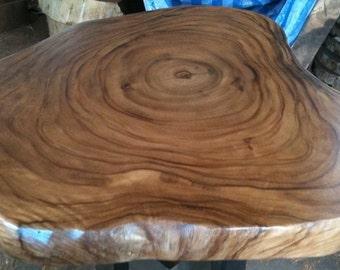 Live Edge Coffee Table Reclaimed Acacia Wood Solid Slab