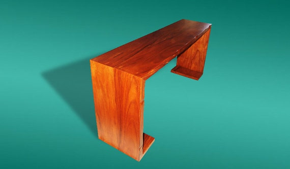 Live Edge Console Table Reclaimed Acacia Wood Solid Slab