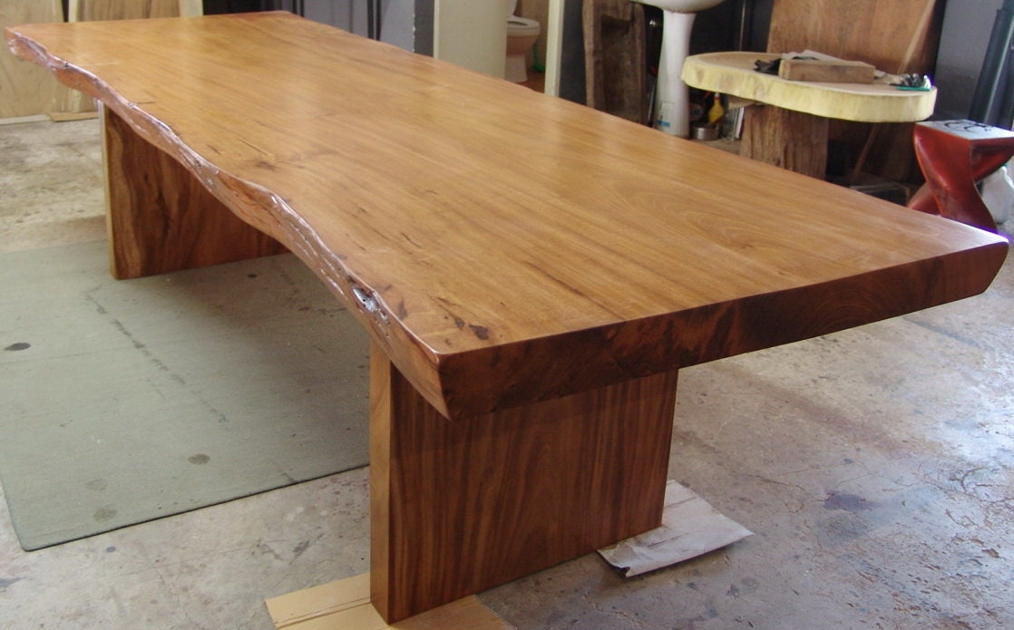 Live Edge Dining Table Reclaimed Solid Slab Rosewood Extremely