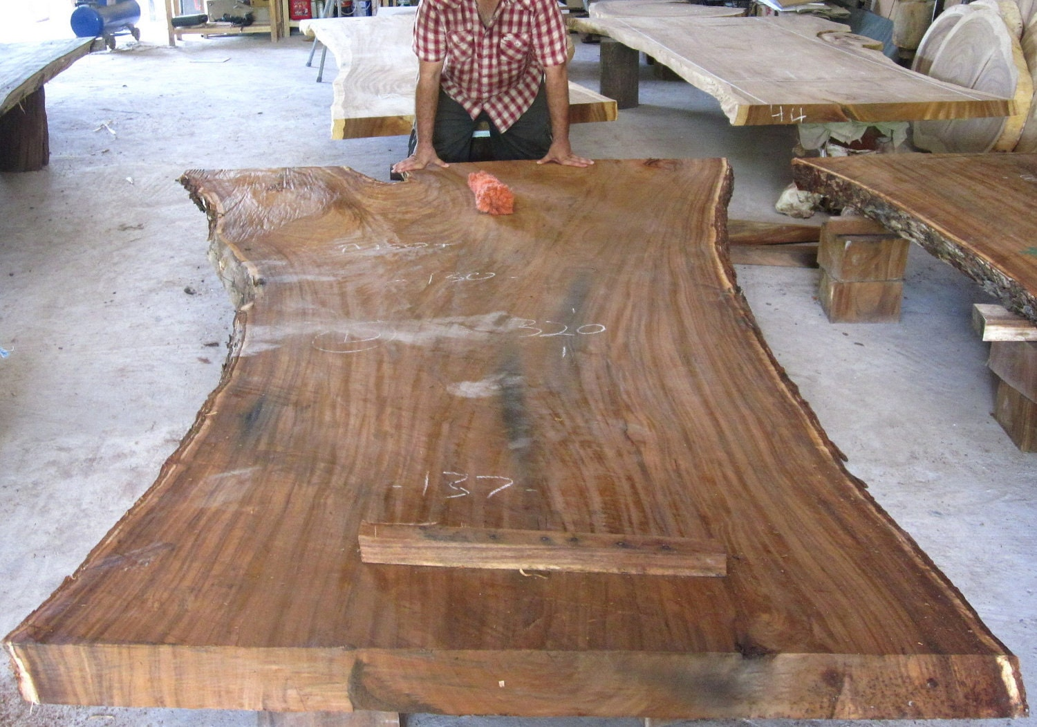 Dining Table Top Reclaimed Extremely Rare Solid Slab Of Golden