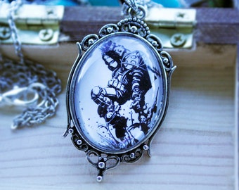 Bioshock Black and White Necklace