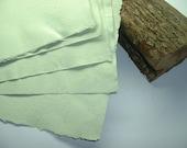 "Handmade Paper ""Pistachio"" Pastel Green. 5 x Large Sheets."