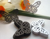 50 Large Butterfly Punches. Mixed Black and White. Scrapbook Embellishments. Martha Stewart Die Cuts.