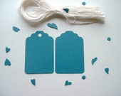 30 Teal Tags. The Real Teal. Your choice - with or without holes. Cotton Strings Included.