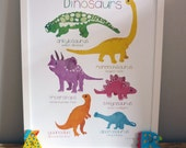 Dinosaur Art: Poster Illustration Poster Print