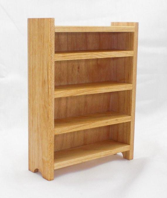 Wood Dollhouse Tall Shelves - Maple Furniture Bookshelves