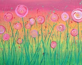 A4 Giclee Print - Abstract Flowers Print of Flower Painting