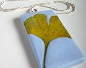 Leafy Love Sale- 15% off: Autumn Ginkgo Leaf Pendant